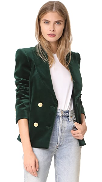 Pierre Balmain Velvet Blazer - Dark Green