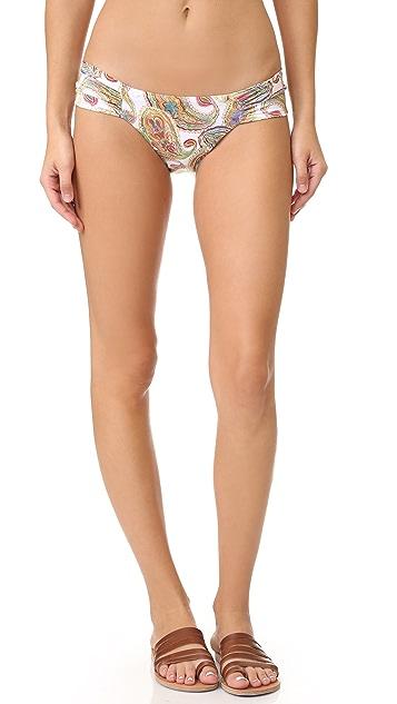 PilyQ Fanned Full Bikini Bottoms