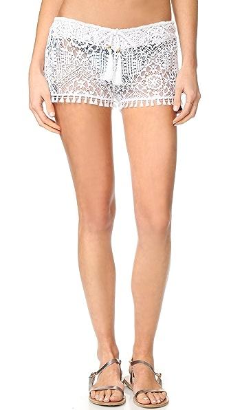 PilyQ Napa Fringe Shorts