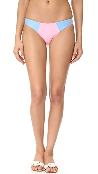 PilyQ Colorblock Full Bikini Bottoms