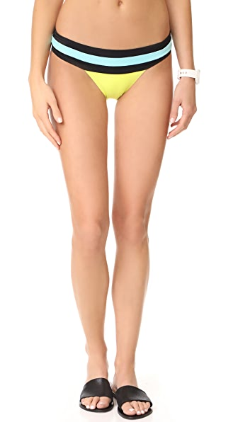 PilyQ Banded Colorblock Full Bikini Bottoms - Sunburst