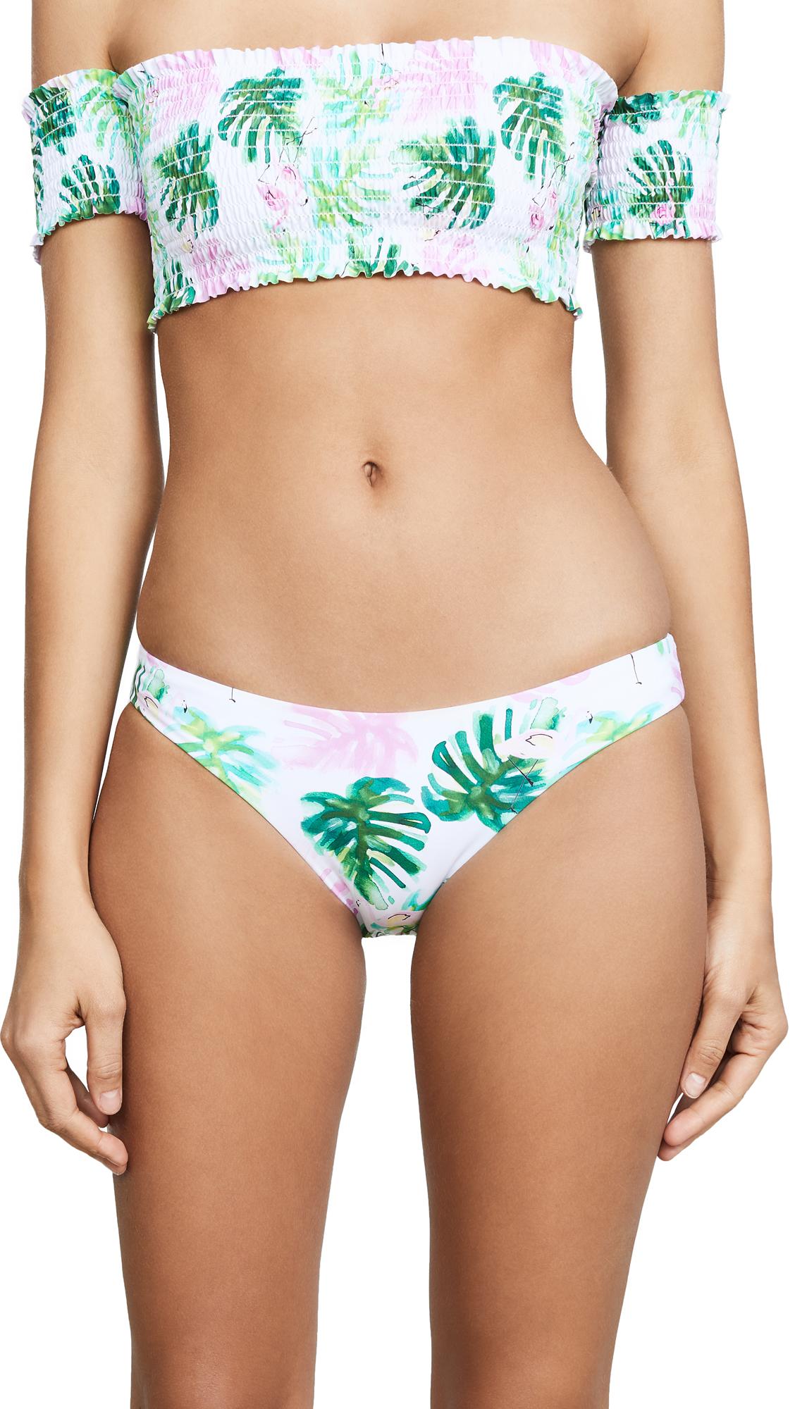 PilyQ Ruched Bikini Bottoms In Multi