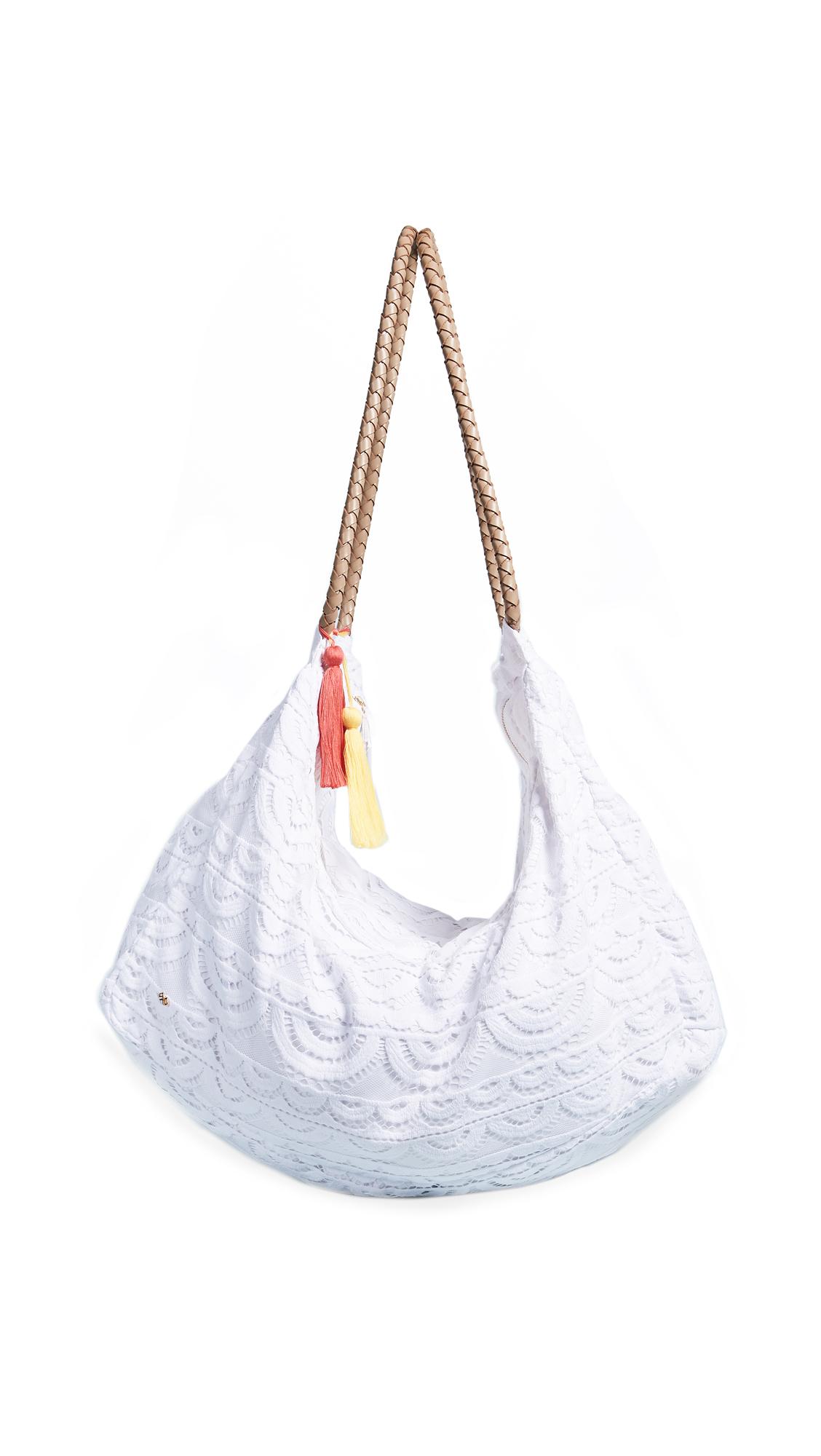 PilyQ Allison Lace Bag - White