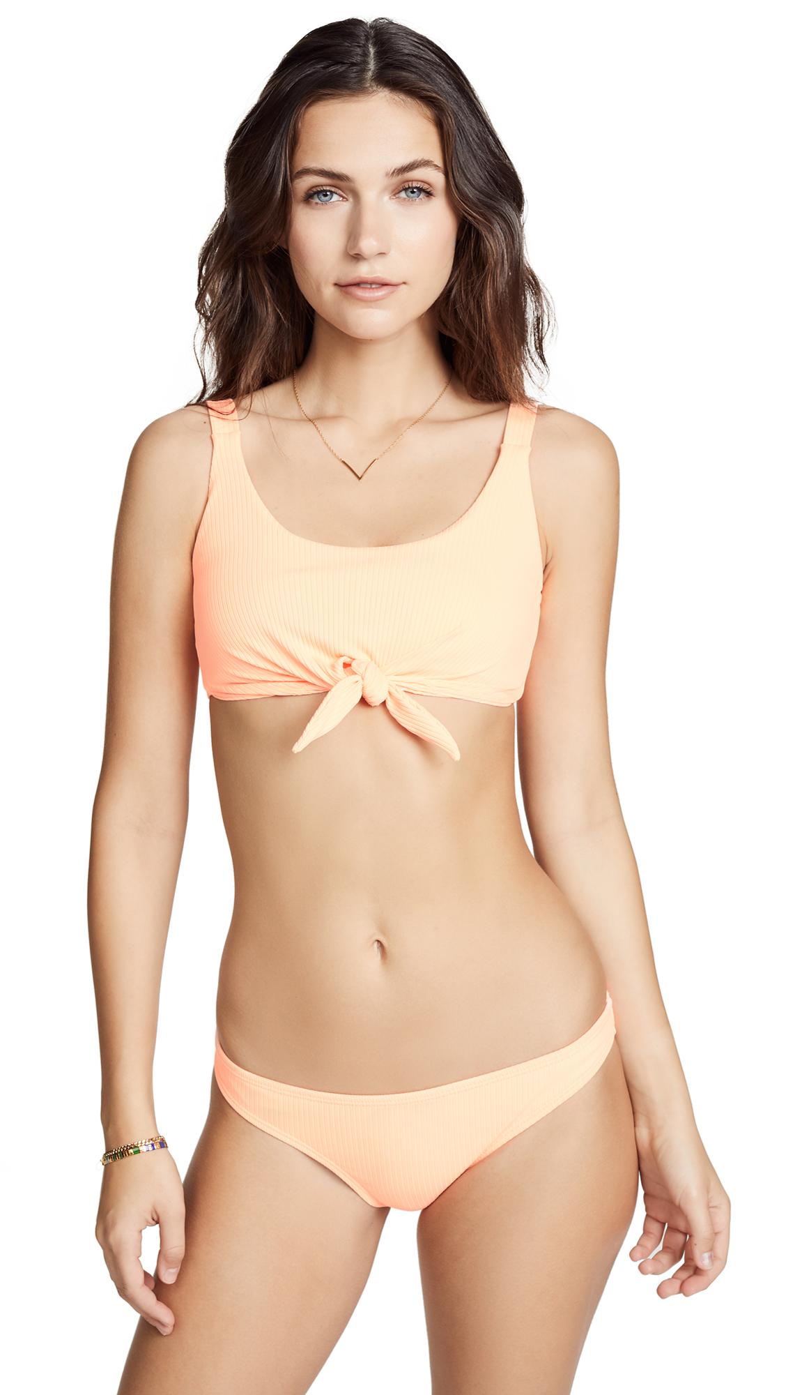 PilyQ Bellini Knot Bikini Top In Bellini