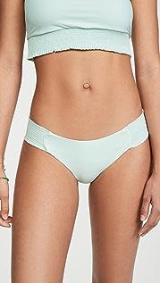 PQ Swim Smocked Tab Full Bikini Bottoms