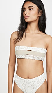PQ Swim Colorblock Bandeau Bikini Top