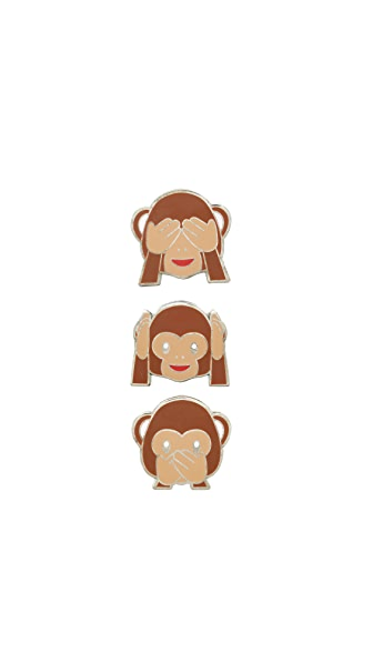 Pintrill Three Wise Monkey Pin Pack