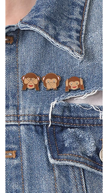 Pintrill Three Wise Monkey Pin Pack