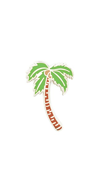 Pintrill Palm Tree Pin In Multi