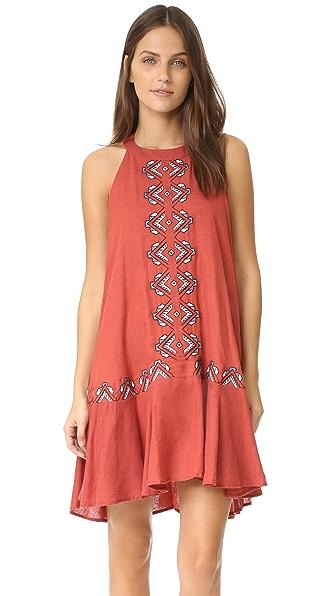 Piper Drop Waist Embroidered Dress