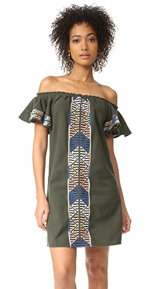 Piper Ruffle Embroidered Dress