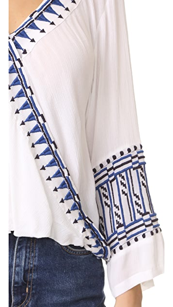 Piper Bell Sleeve Embroidered Top