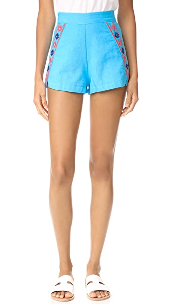 Piper Brisban Shorts - Aqua