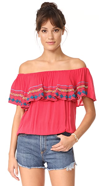 Piper Byron Blouse - Raspberry