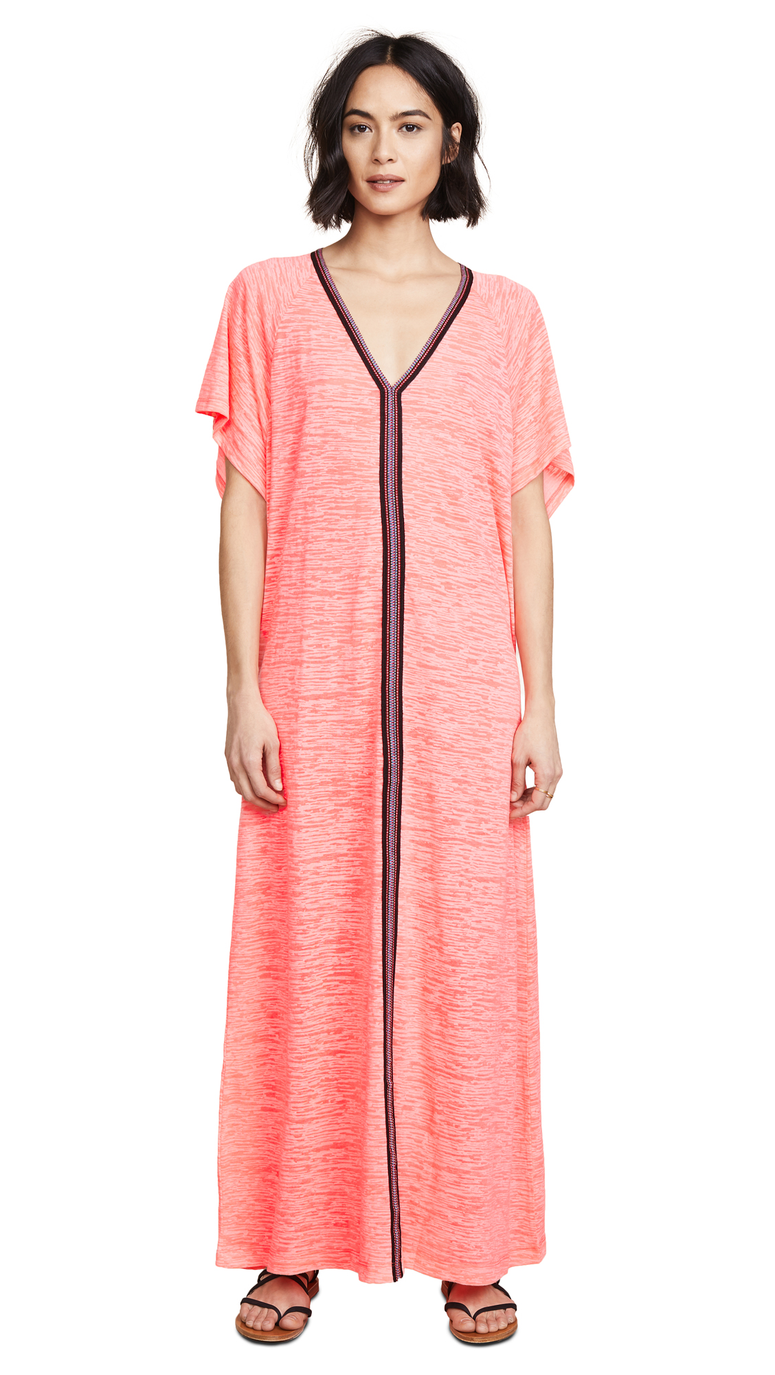 Pitusa Abaya Maxi Dress - Hot Pink