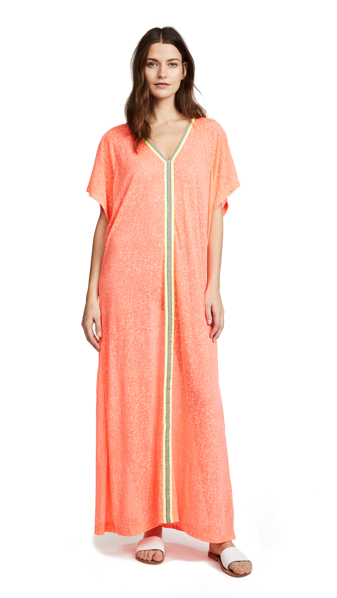 Pitusa Abaya Maxi Dress - Watermelon
