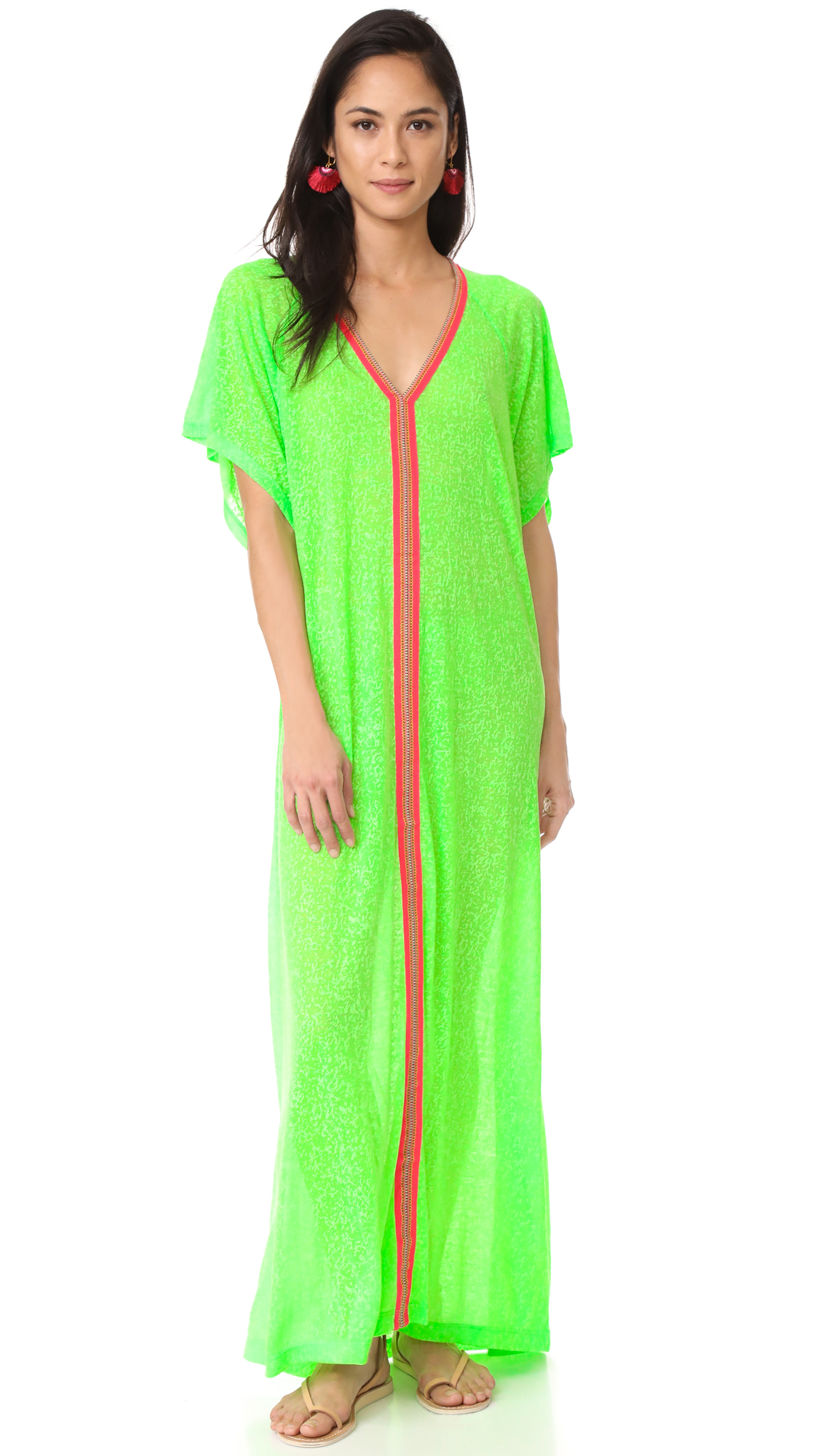 Pitusa Abaya Maxi Dress - Lime