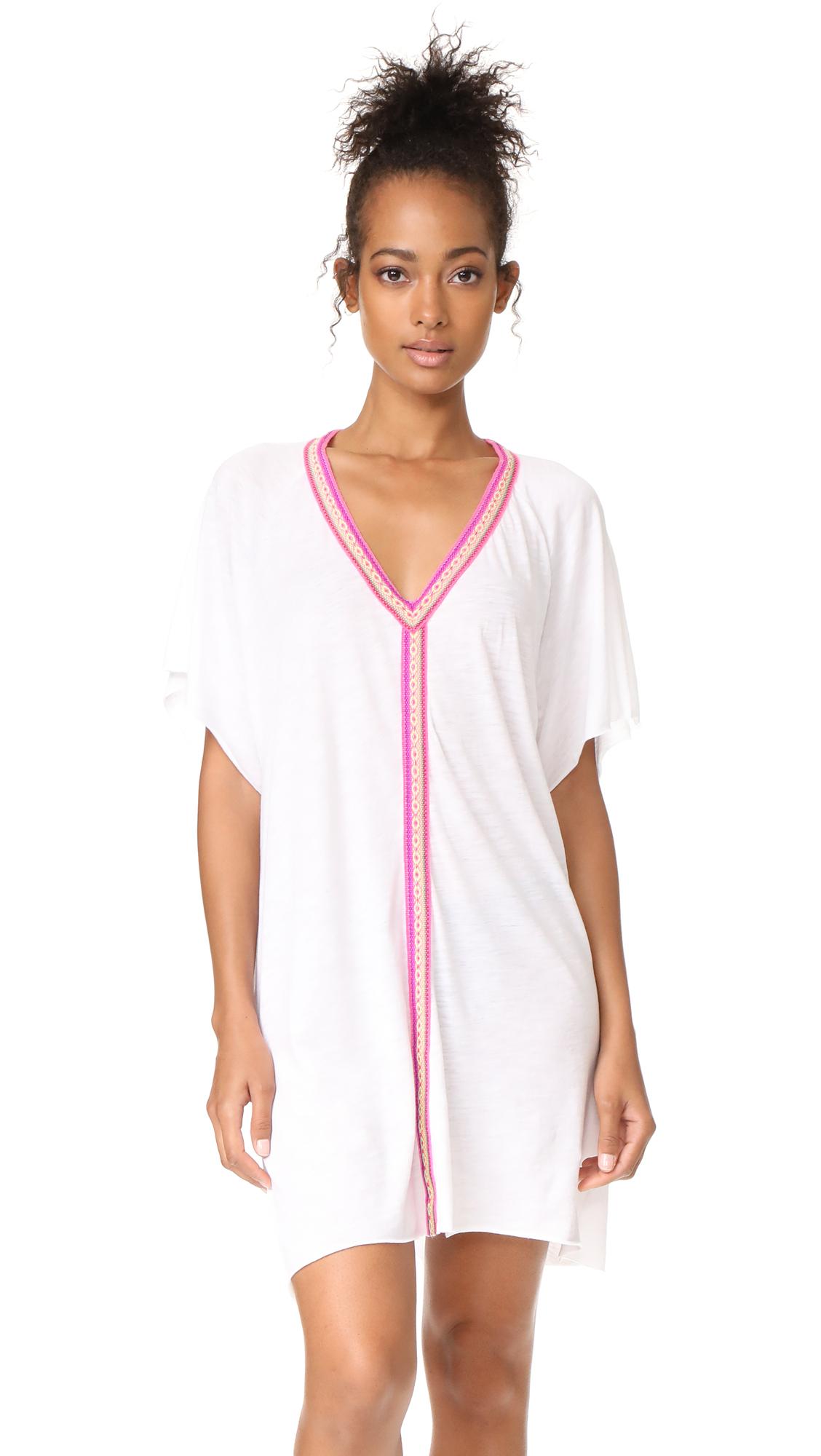 Pitusa Mini Abaya Dress - White