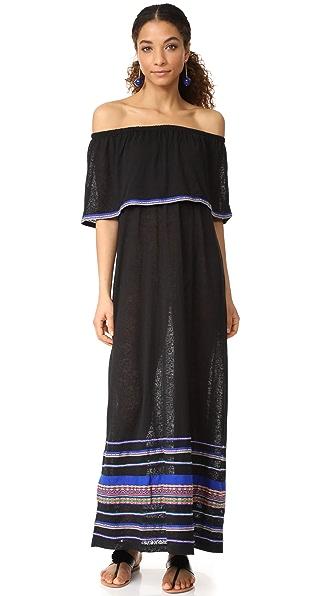 Pitusa Peruvian Maxi Dress - Black