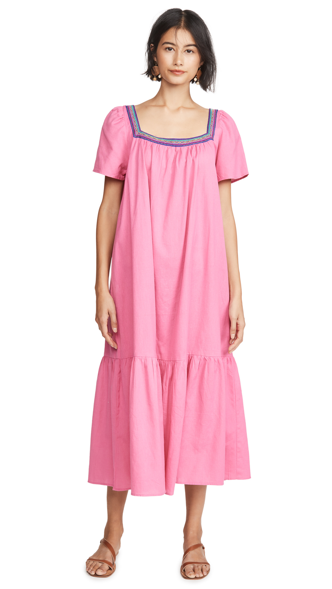 Buy Pitusa online - photo of Pitusa Ruffle Maxi Dress