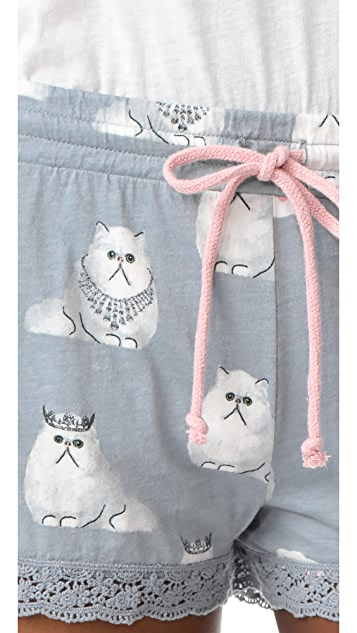 PJ Salvage Cat PJ Shorts