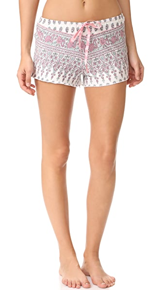 PJ Salvage Floral Paisley PJ Shorts - Natural