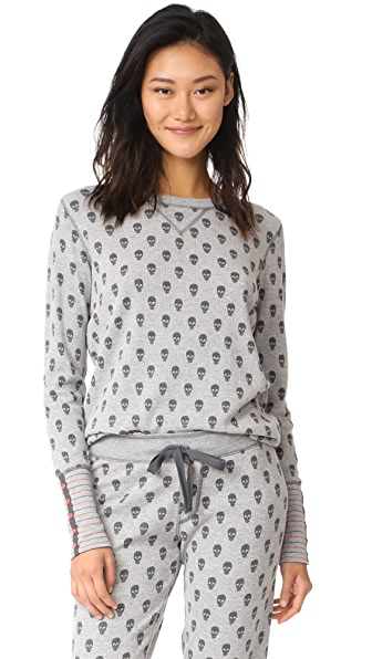PJ Salvage Skull Canyon PJ Top - Heather Grey