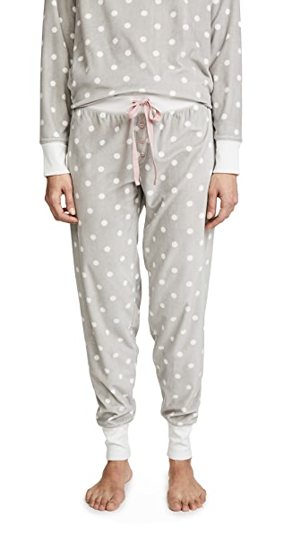PJ Salvage Cozy Dots PJ Bottoms In Grey