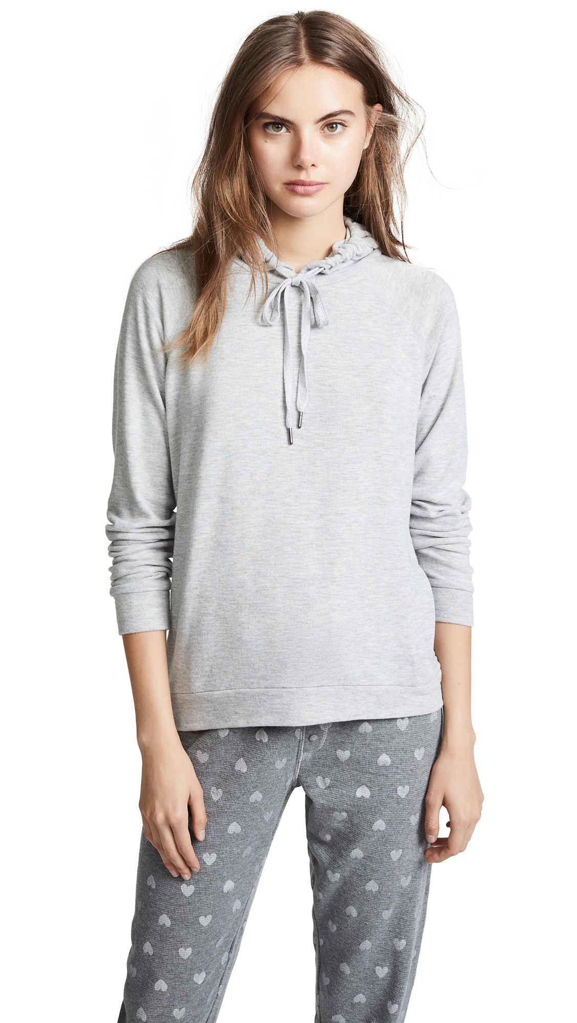 PJ Salvage Wild Heart Basic Hoodie In Heather Grey