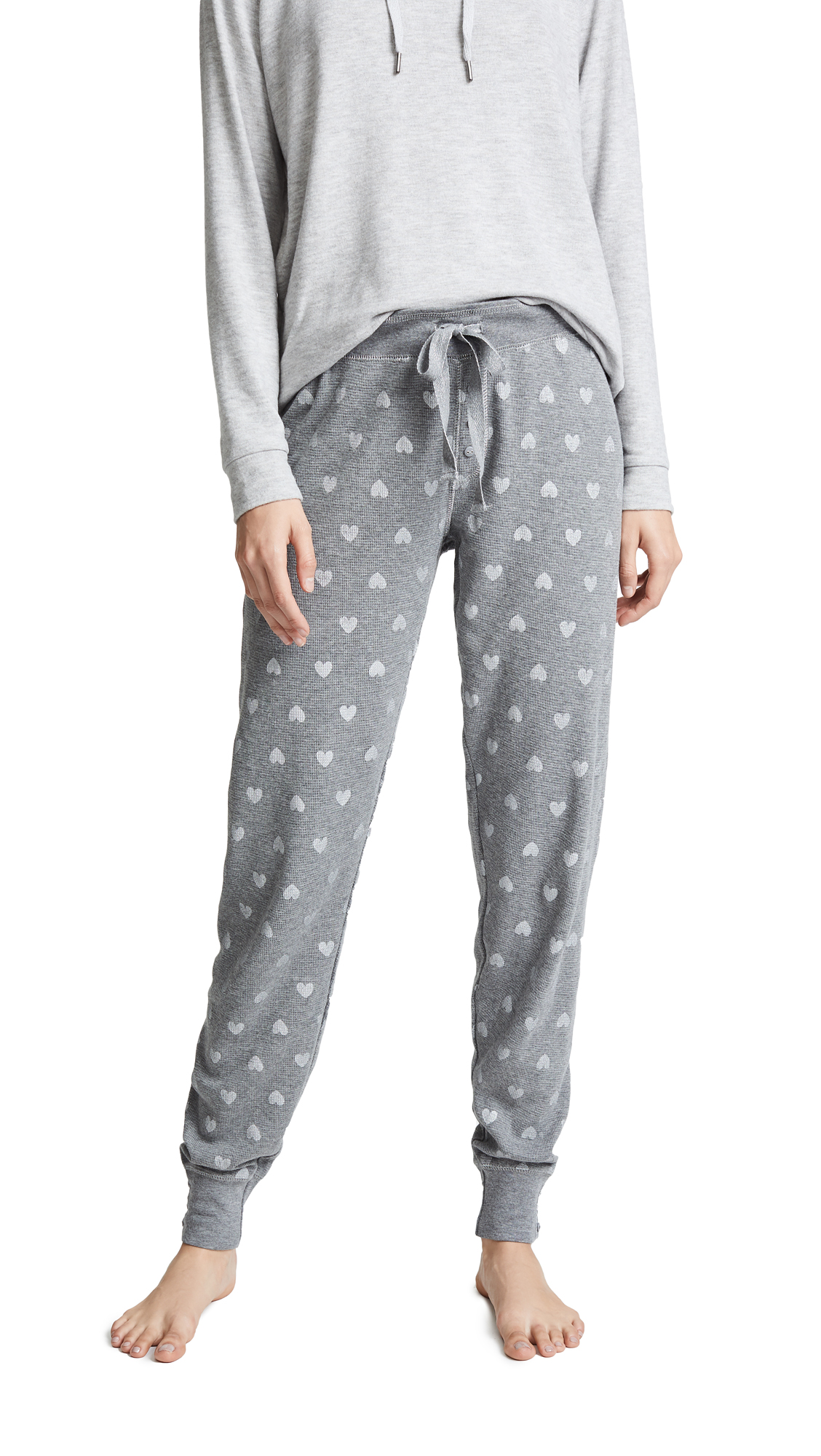 PJ Salvage Wild Heart PJ Bottoms In Heather Grey