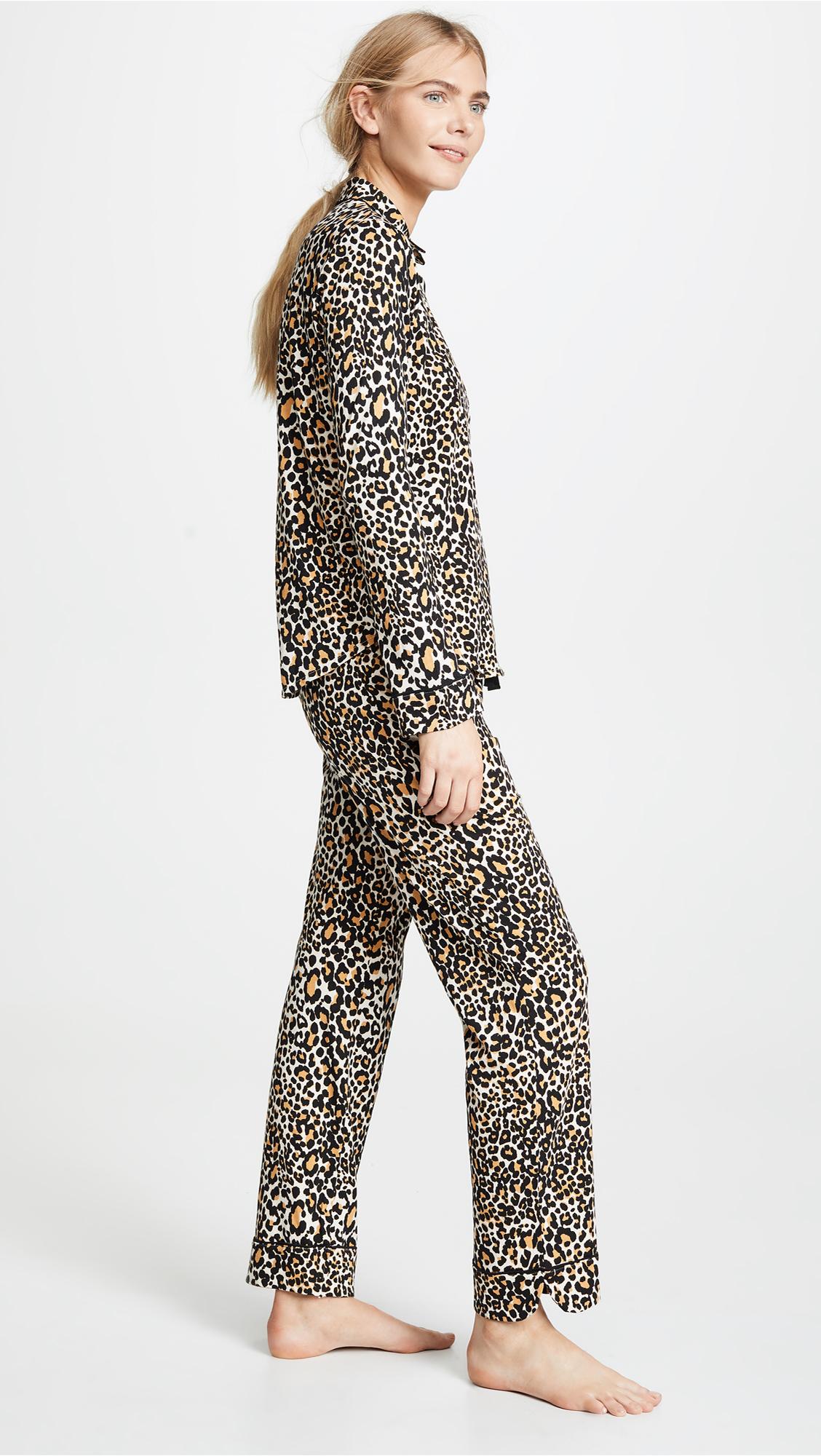 d2e2533535c PJ Salvage Give Love Cheetah Printed PJ Set