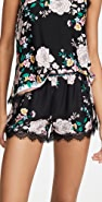 PJ Salvage Floral Scarf Shorts