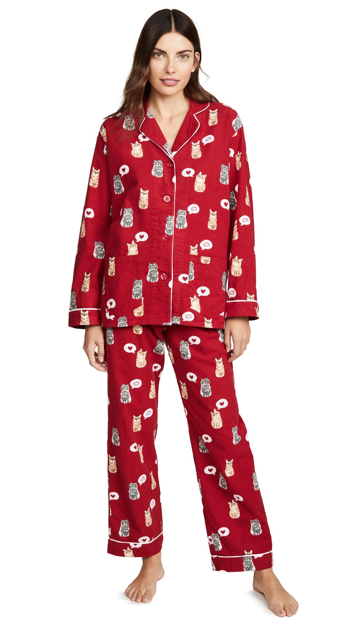 Buy PJ Salvage online - photo of PJ Salvage Meow & Furever Flannel PJ Set