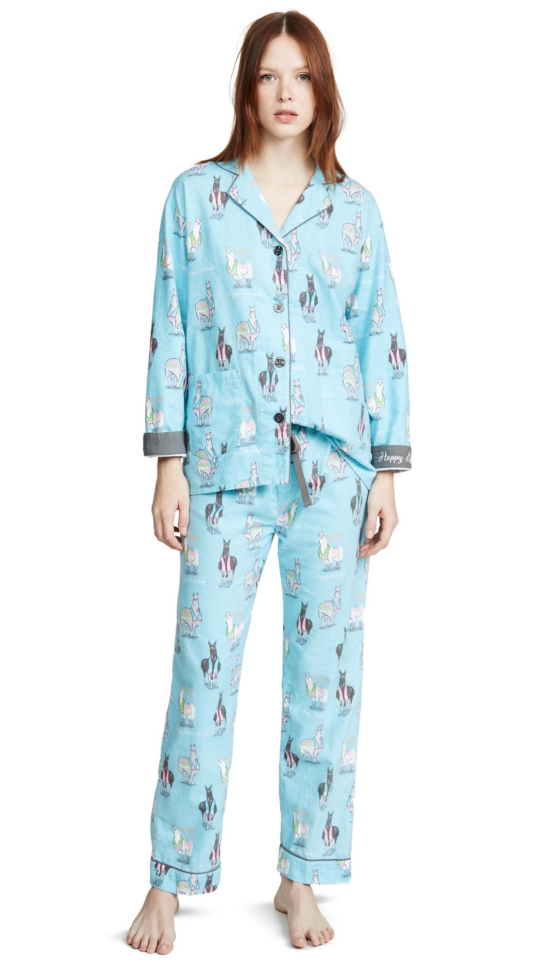Buy PJ Salvage online - photo of PJ Salvage Happy Llamakah Flannel PJ Set