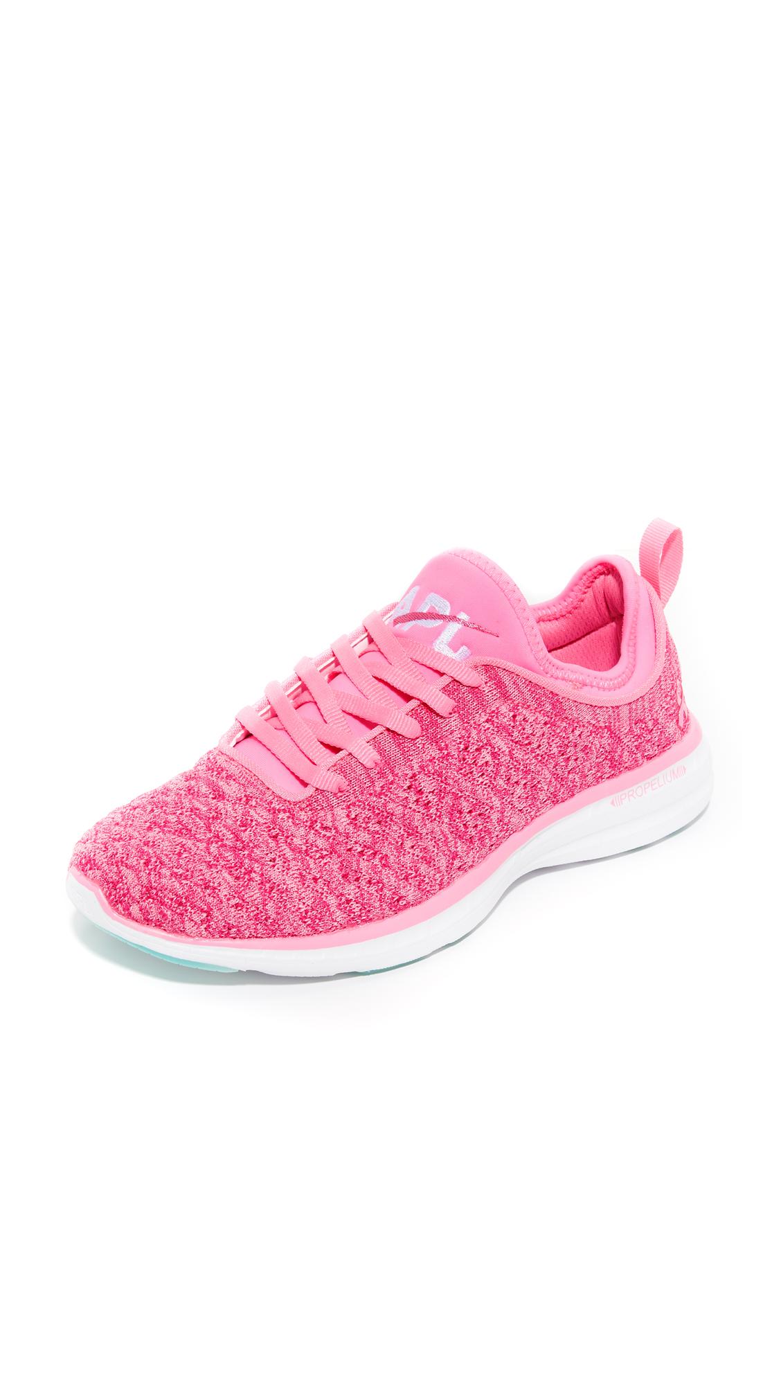 apl athletic propulsion labs female apl athletic propulsion labs techloom phantom sneakers pinkwhite