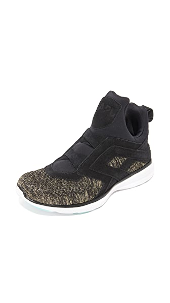 APL: Athletic Propulsion Labs Cielo Bootie Sneakers - Black/Gold/White