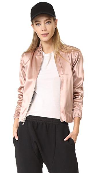 APL: Athletic Propulsion Labs Bomber Jacket In Dusty Rose