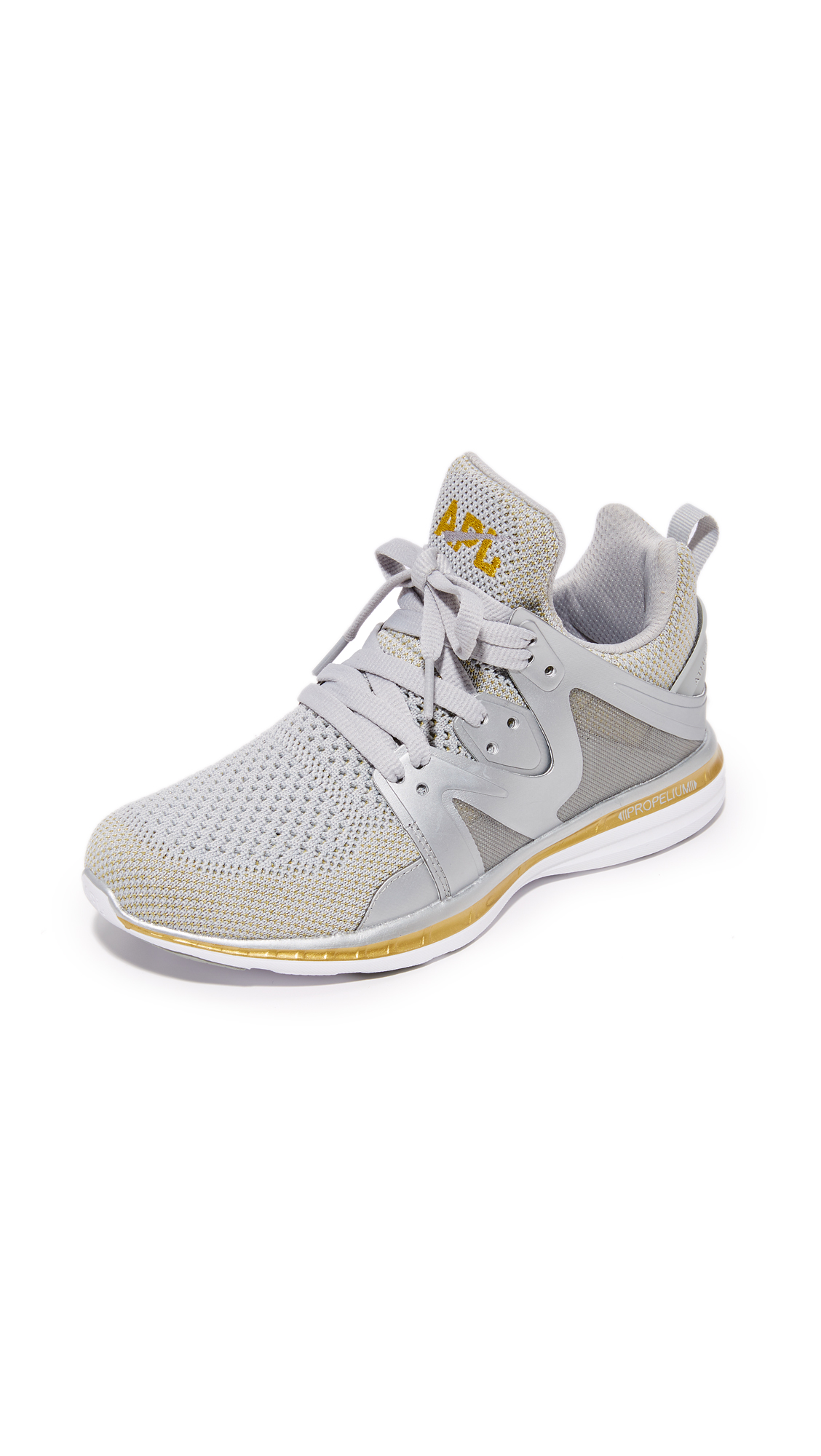APL: Athletic Propulsion Labs Ascend Sneakers - Metallic Silver/Gold