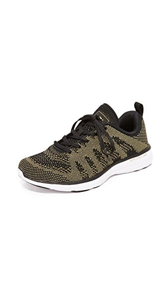APL: Athletic Propulsion Labs TechLoom Pro Sneakers - Black/Metallic Gold