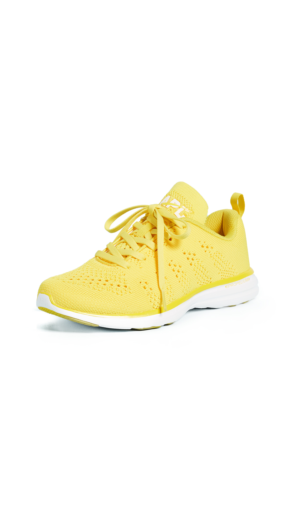 APL: Athletic Propulsion Labs TechLoom Pro Sneakers - Racing Yellow/White