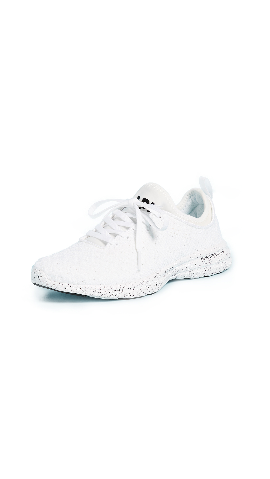 APL: Athletic Propulsion Labs TechLoom Phantom Sneakers - White/Black Speckle