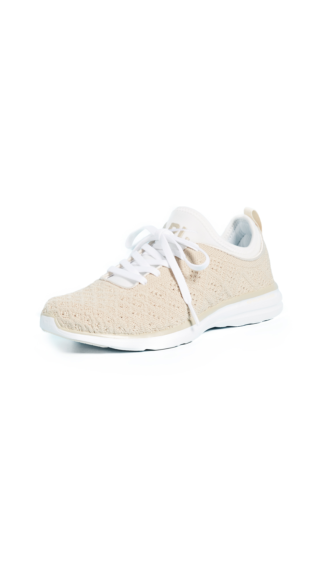 APL: Athletic Propulsion Labs TechLoom Phantom Sneakers - White/Parchment/Cream