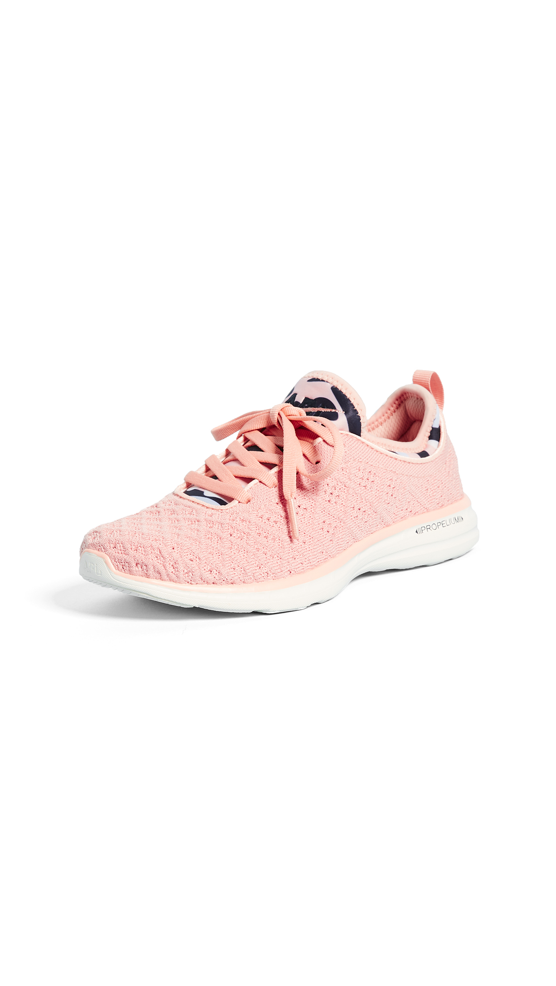APL: Athletic Propulsion Labs TechLoom Phantom Sneakers - Tropical Pink/Midnight/Pristin