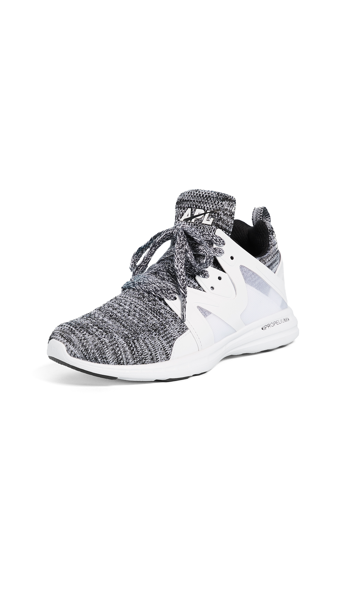 APL: Athletic Propulsion Labs Ascend Sneakers - White/Black/White Melange