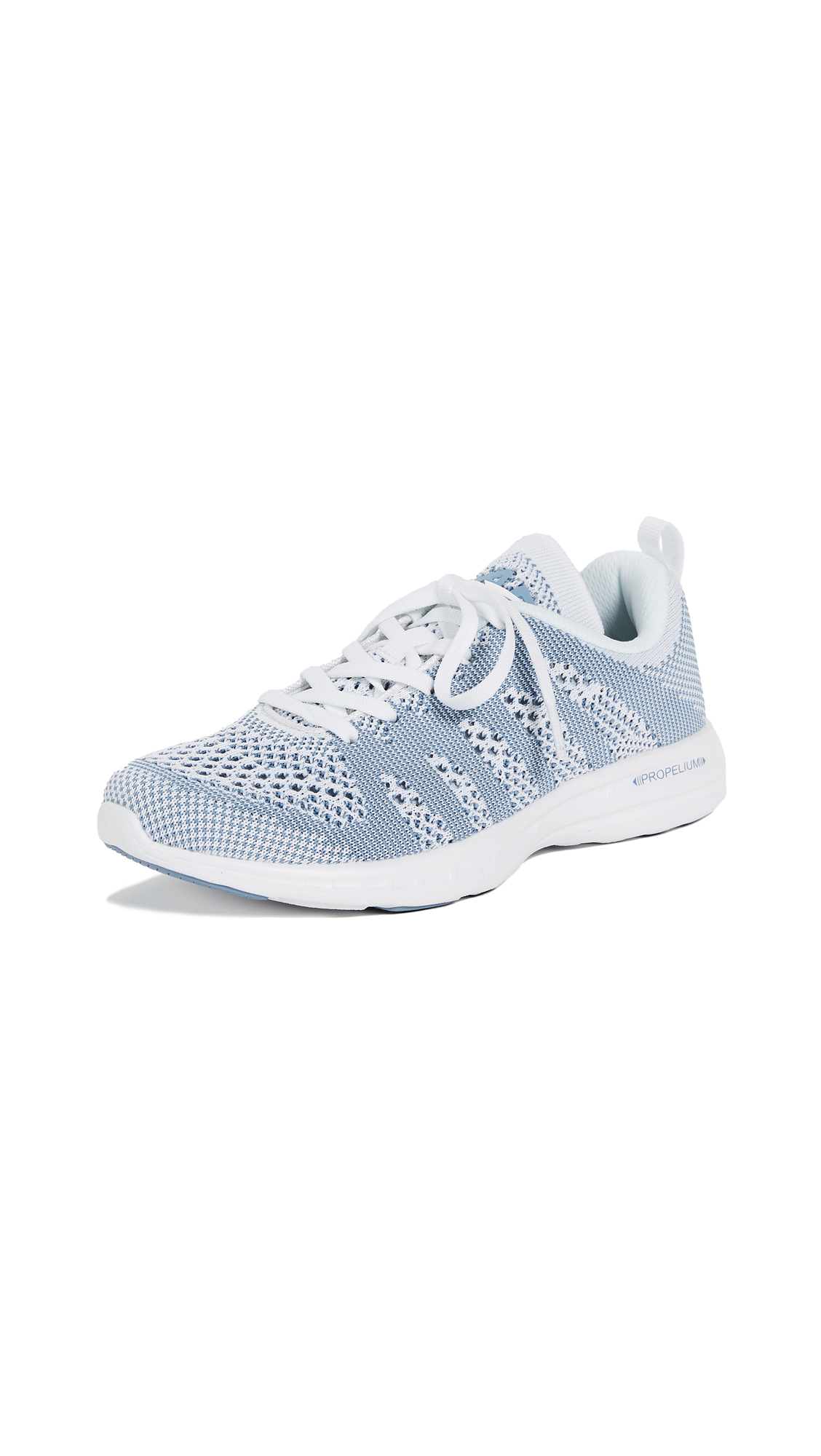 APL: Athletic Propulsion Labs TechLoom Pro Sneakers - White/Grey Denim