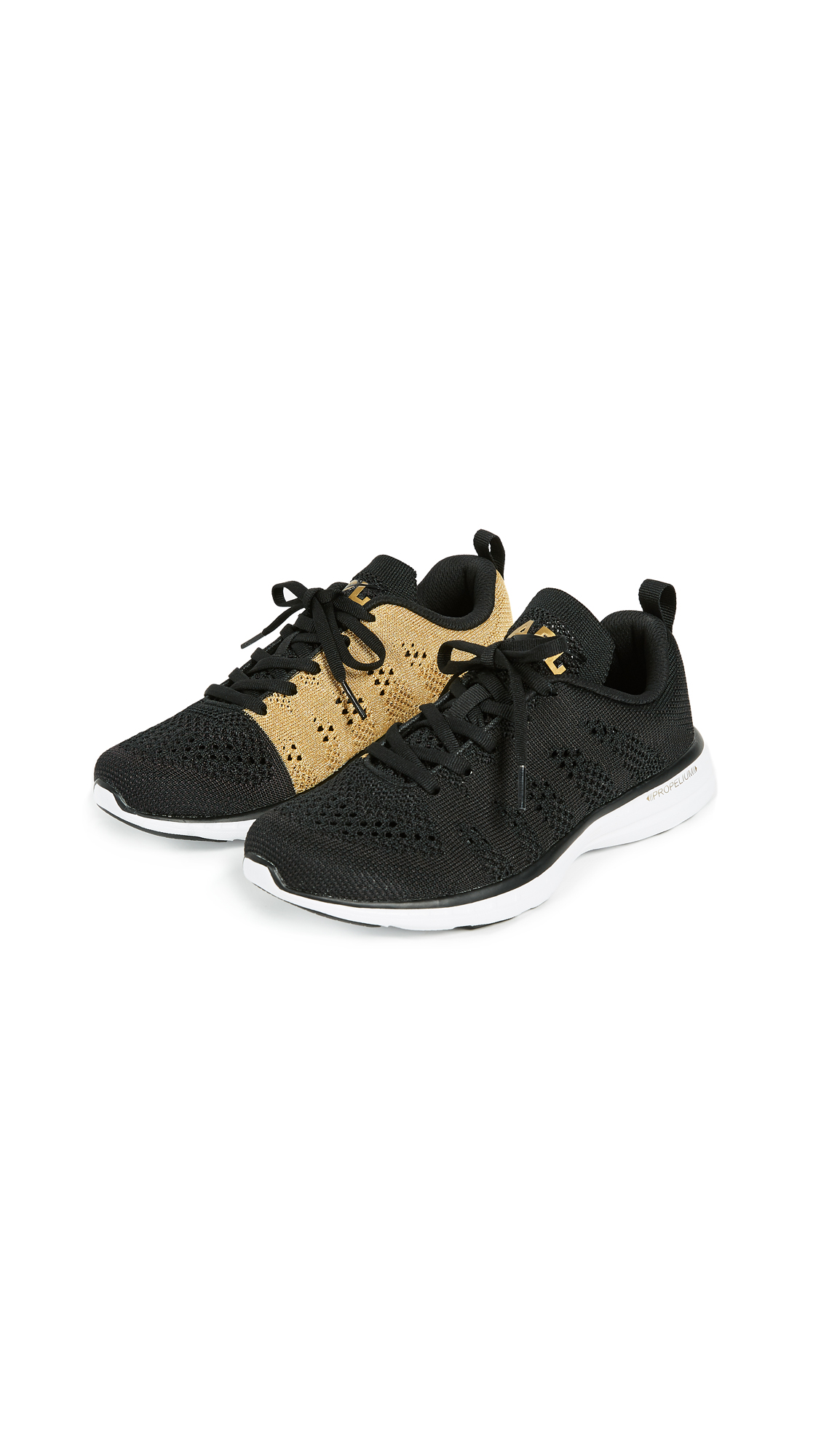 APL: Athletic Propulsion Labs TechLoom Pro Sneakers - Black/24K Melange