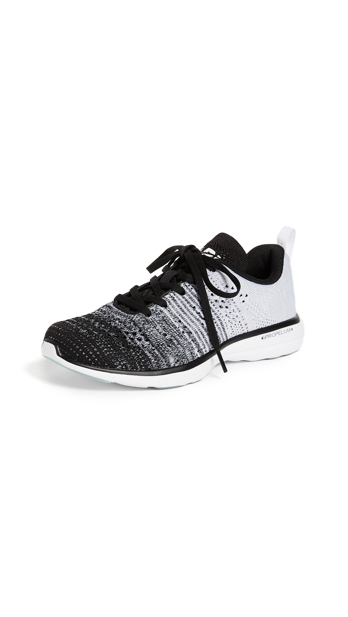 APL: Athletic Propulsion Labs TechLoom Pro Sneakers - Black/Heather Grey/White