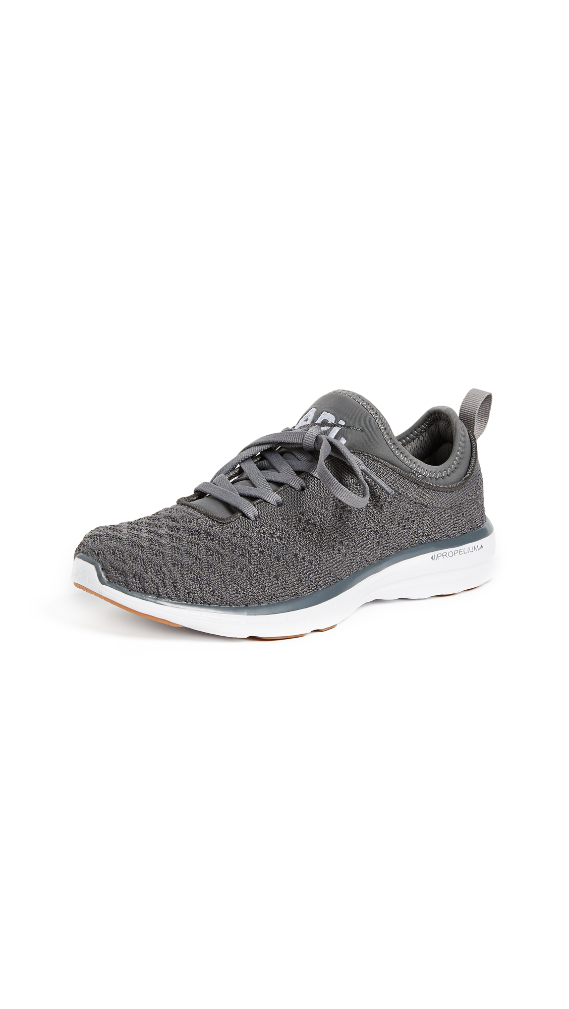 APL: Athletic Propulsion Labs TechLoom Phantom Sneakers - Gunmetal/White/Gum