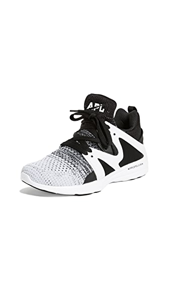 APL: Athletic Propulsion Labs Ascend Sneakers In Black/Heather Grey/White
