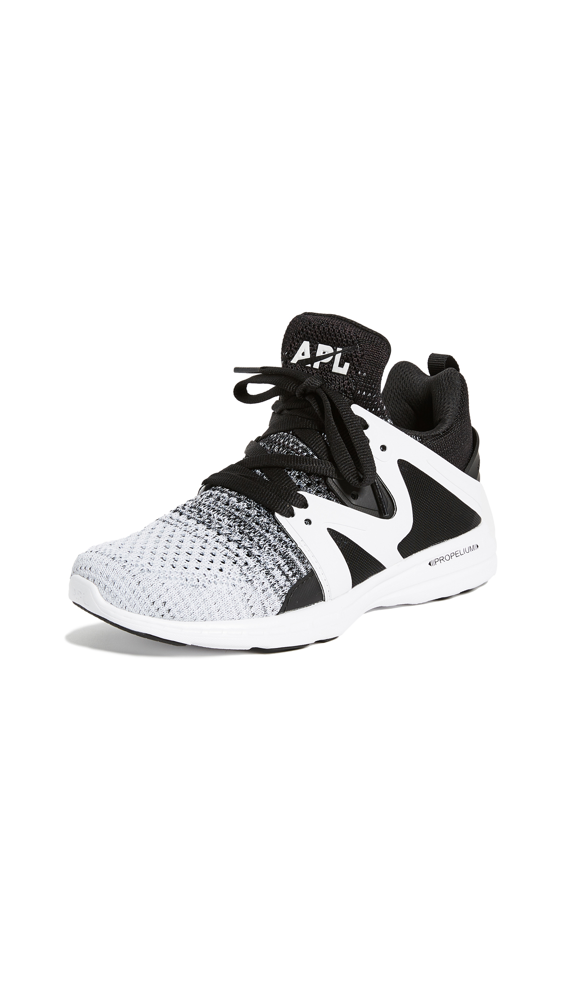 APL: Athletic Propulsion Labs Ascend Sneakers - Black/Heather Grey/White